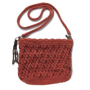 The Sak Crossbody Crochet Bag With Wooden Beads
